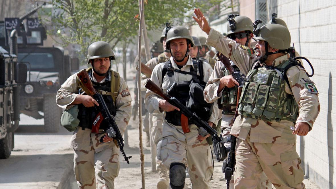 Vojáci v Kábulu
