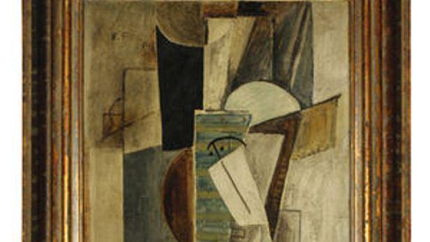 Detail Fillova obrazu Hlava muže v cylindru