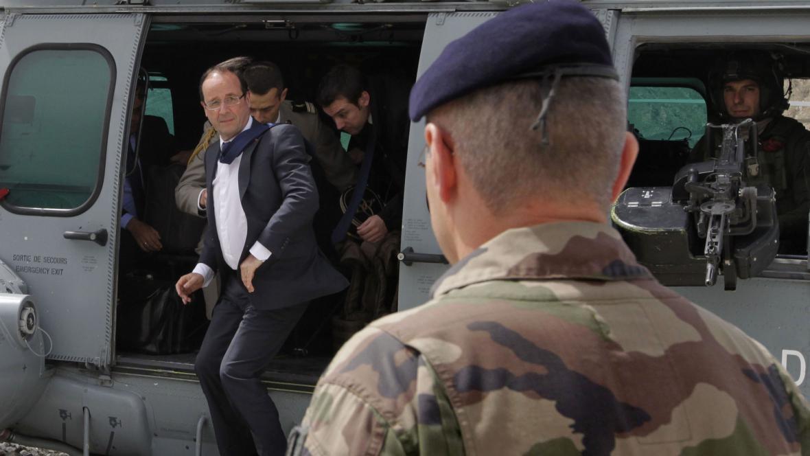 François Hollande v Afghánistánu