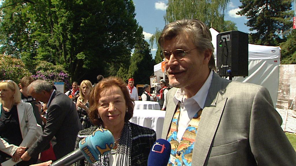 Patronka festivalu Livie Klausová a organizátor Pavel Maurer