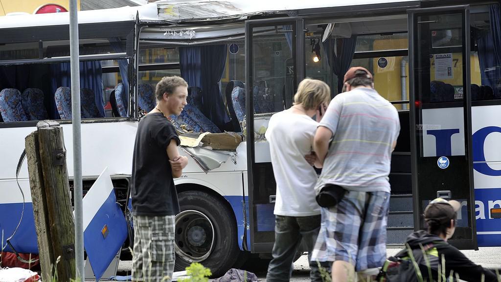Poškozený autobus