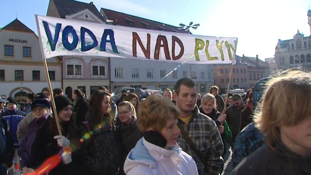 Protest proti těžbě břidlicového plynu