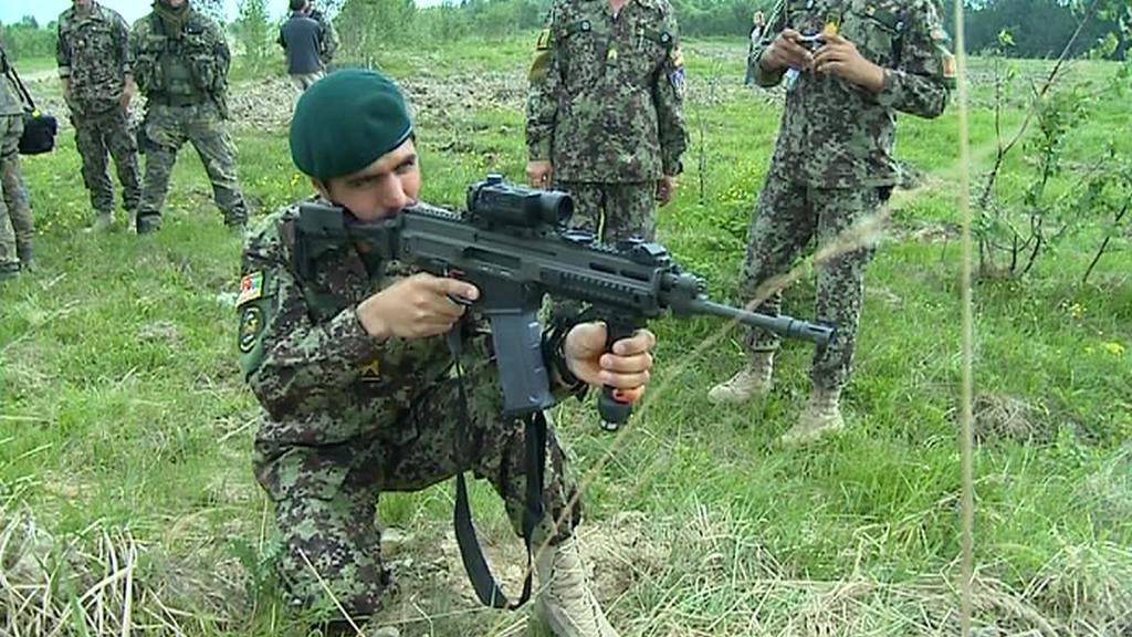 Afghánští vojáci v Libavé