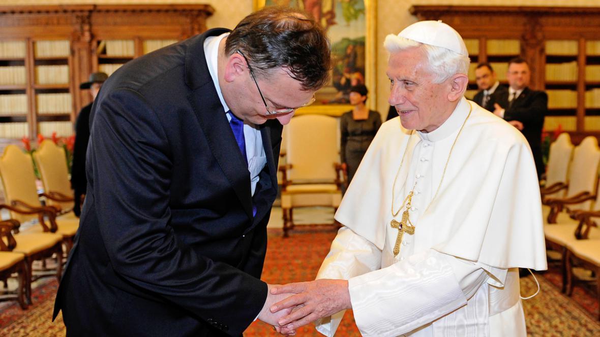 Petr Nečas a Benedikt XVI.