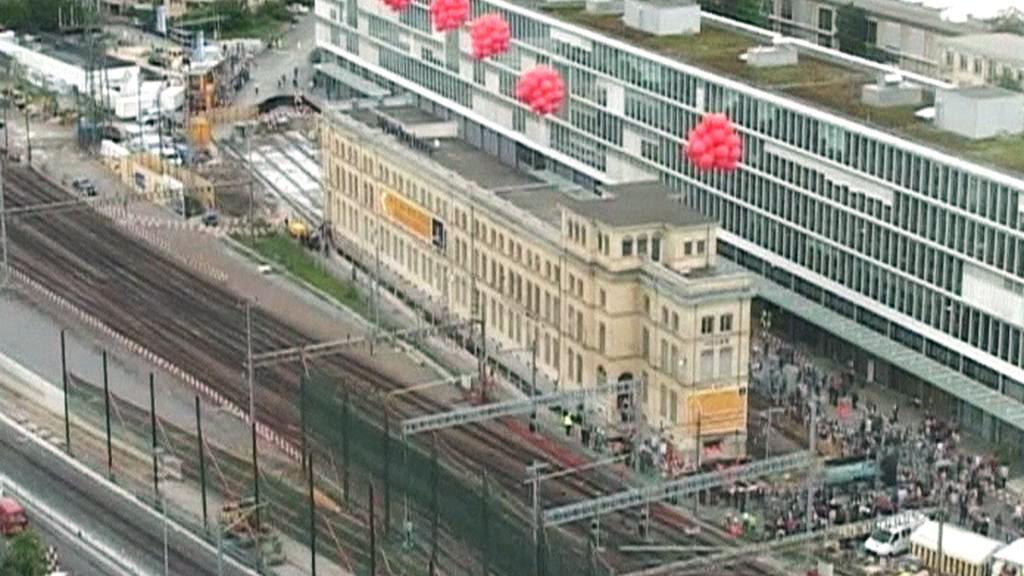 Stěhování budovy Maschinenfabrik Oerlikon v Curychu