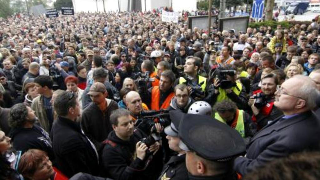 Demonstrace v Břeclavi