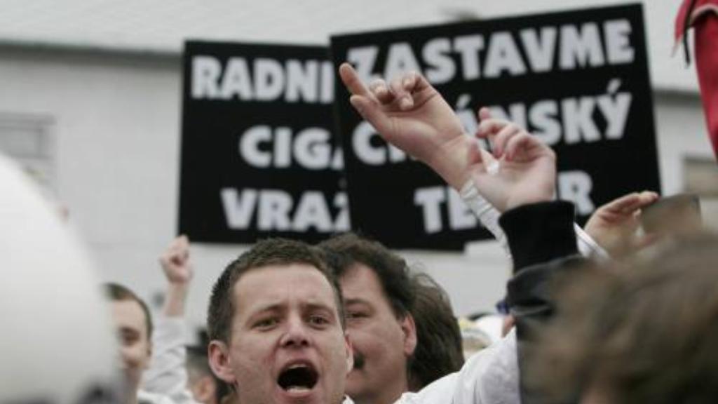 Účastníci demonstrace v Břeclavi