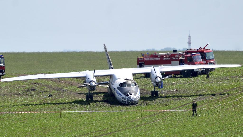 Havarovaný ruský letoun Antonov