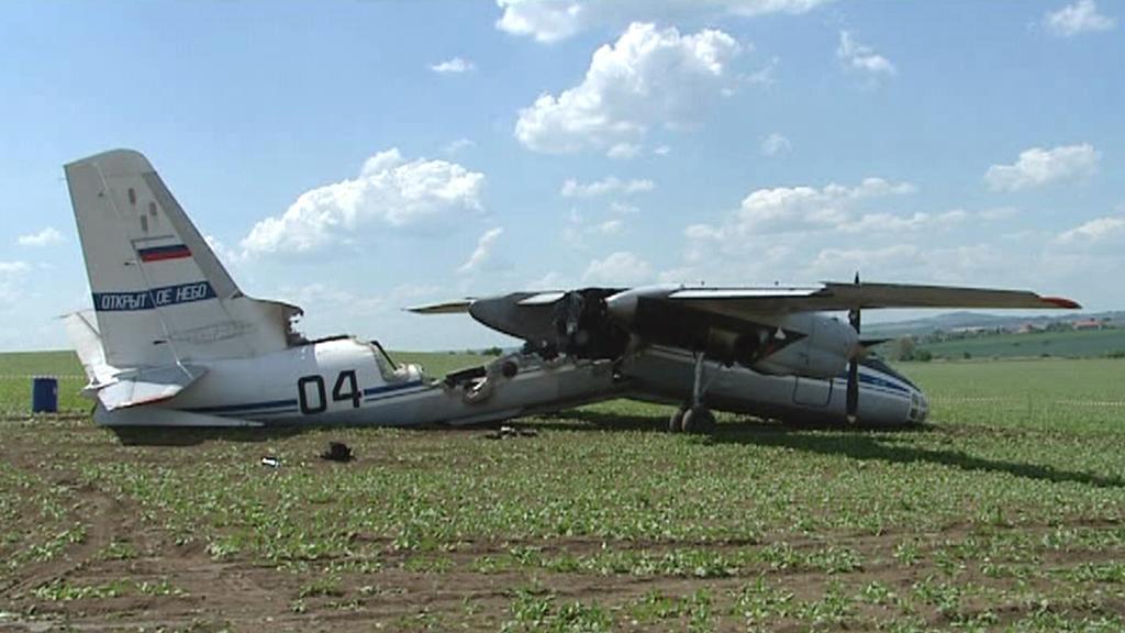 Havarované ruské letadlo