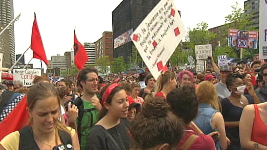 Protesty v Montrealu