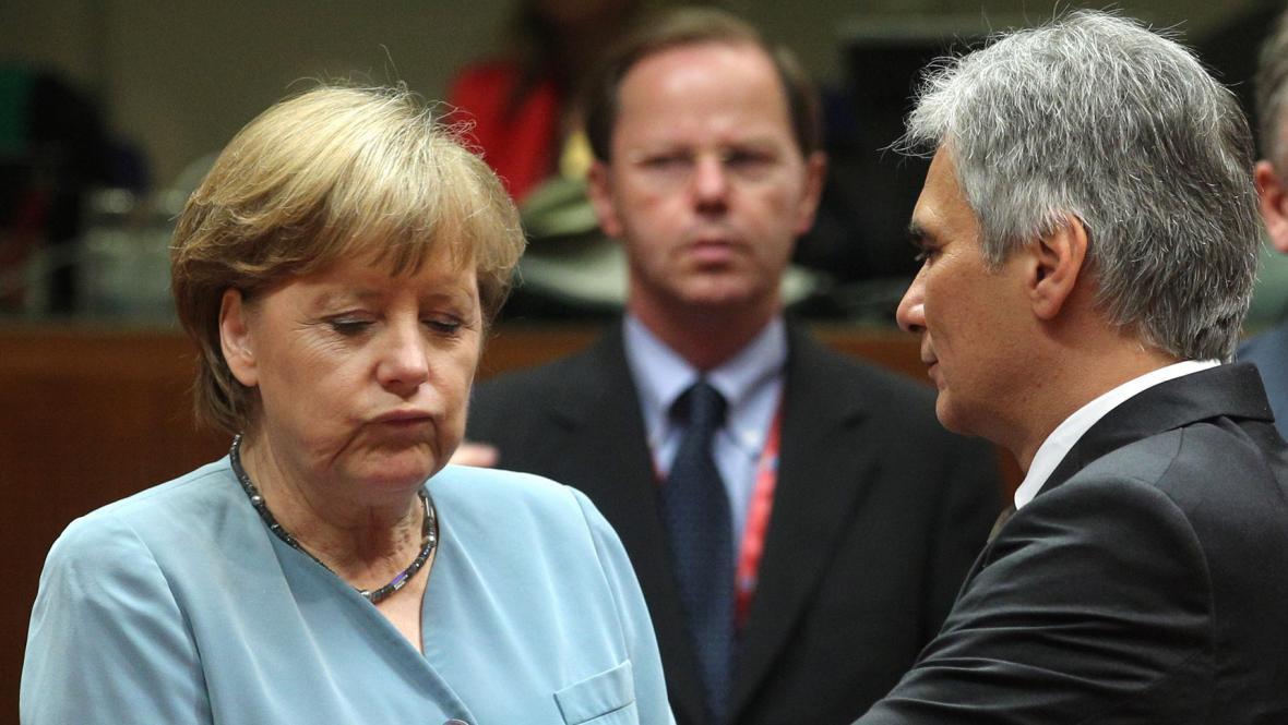 Angela Merkelová a Werner Faymann