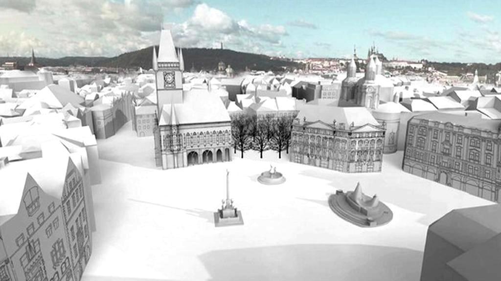 Model Staroměstského náměstí