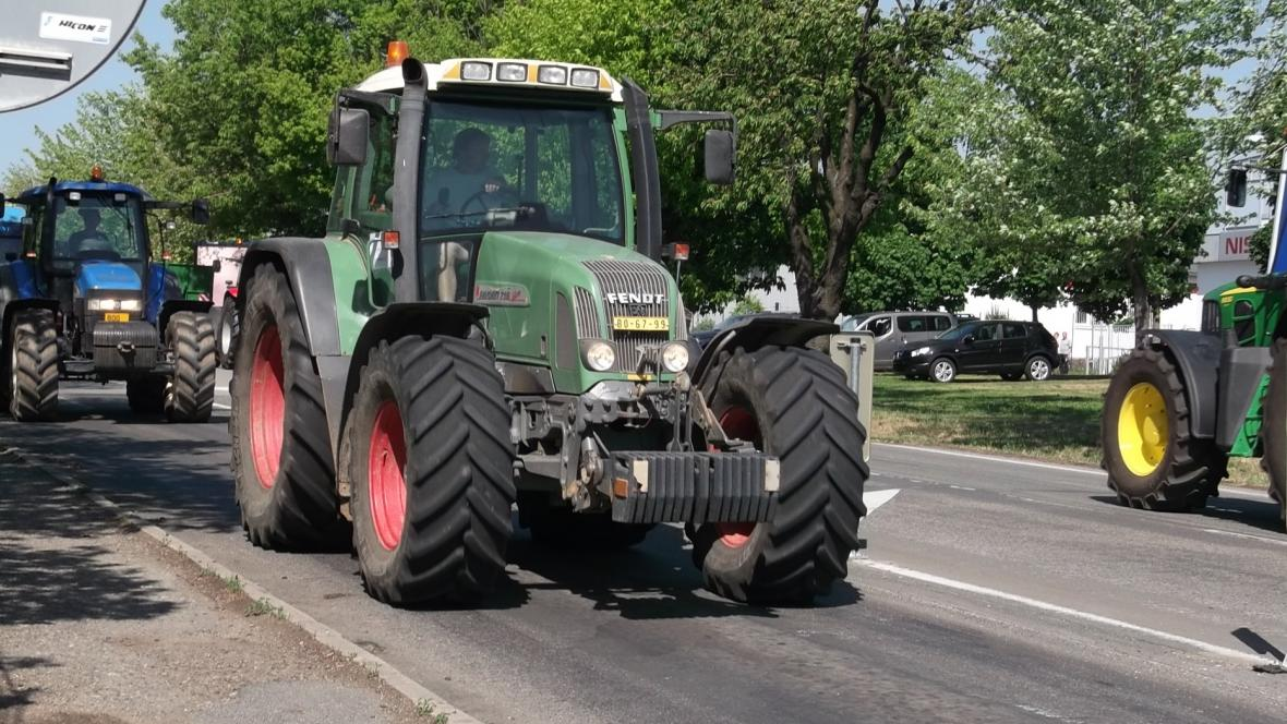 Zemědělci dorazili na okraj Brna