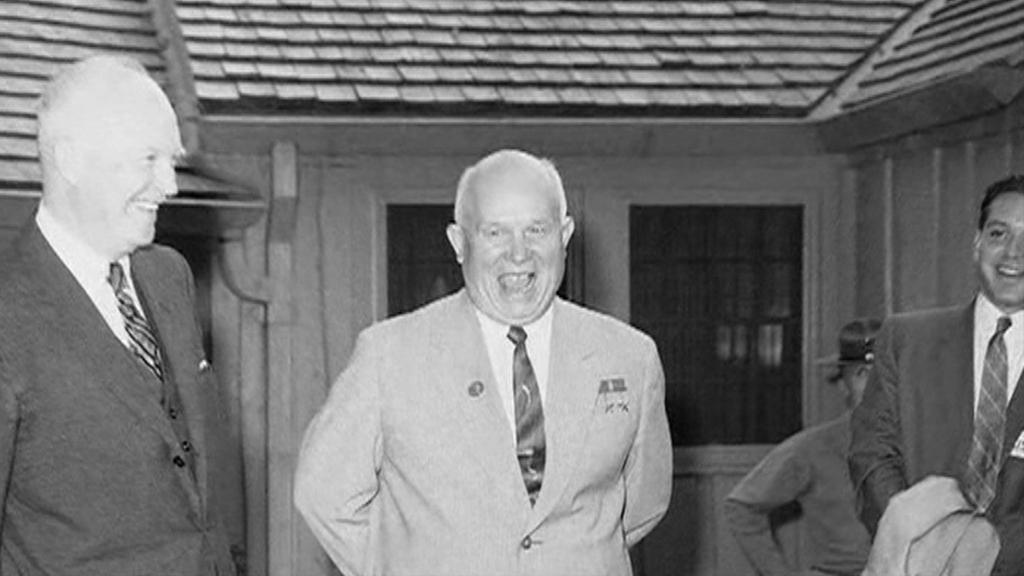 Nikita Chruščov v Camp Davidu