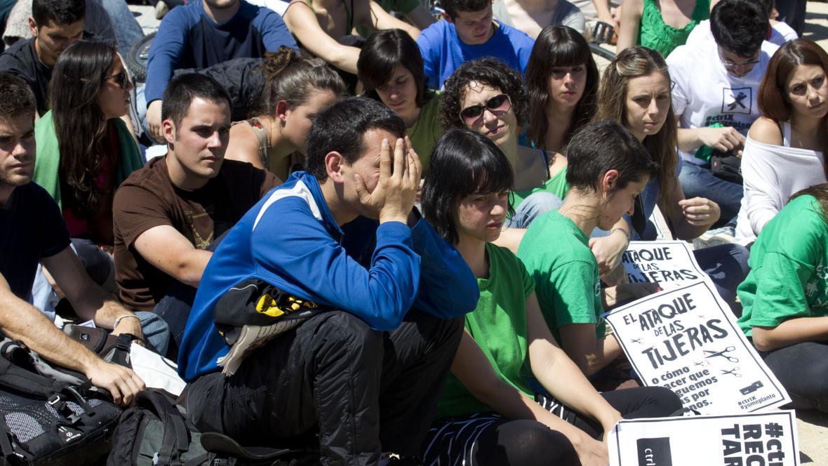 Protest studentů ve Španělsku