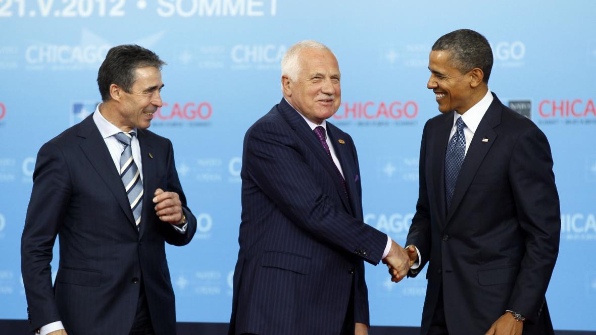 Anders Fogh Rasmussen, Václav Klaus a Barack Obama
