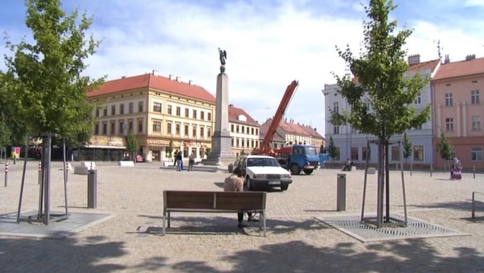 Kopalův pomník patří mezi dominanty náměstí