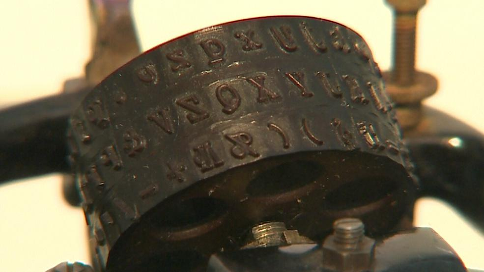 Detail psacího stroje