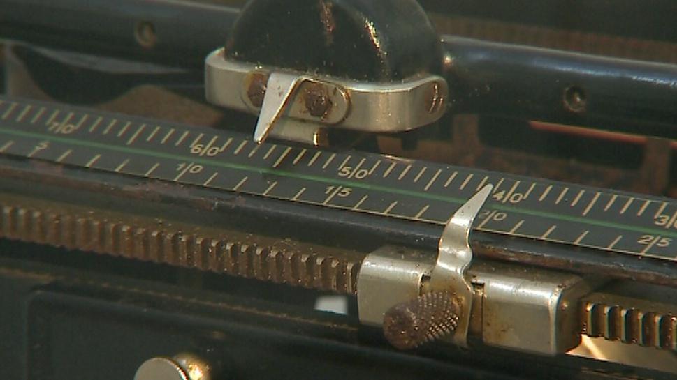 Psací stroj - detail