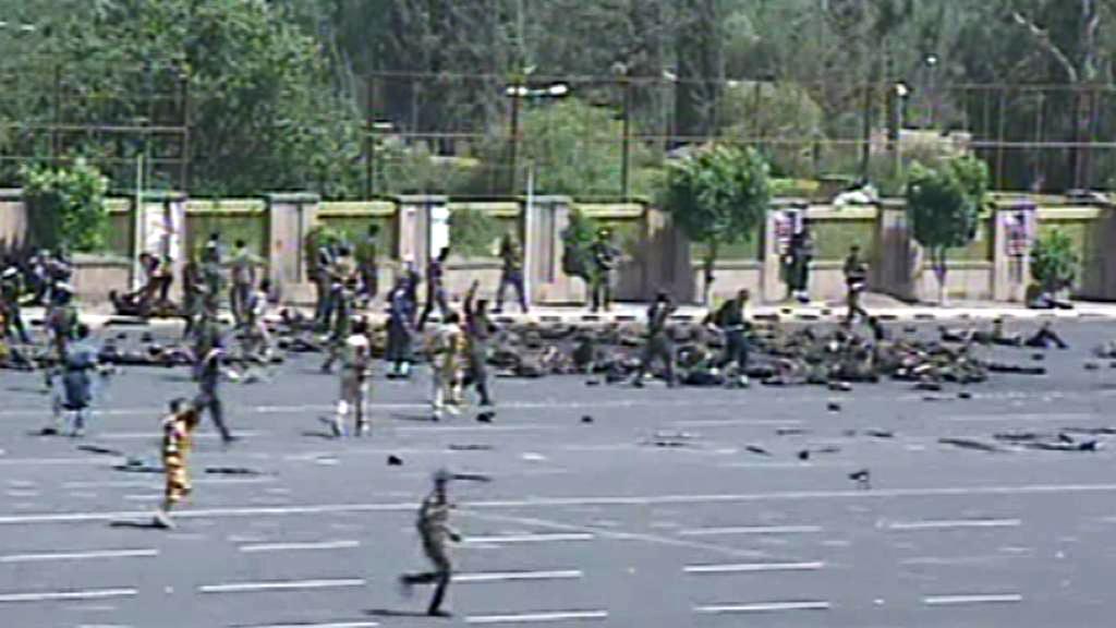 Atentát při nácviku na vojenskou přehlídku v Saná