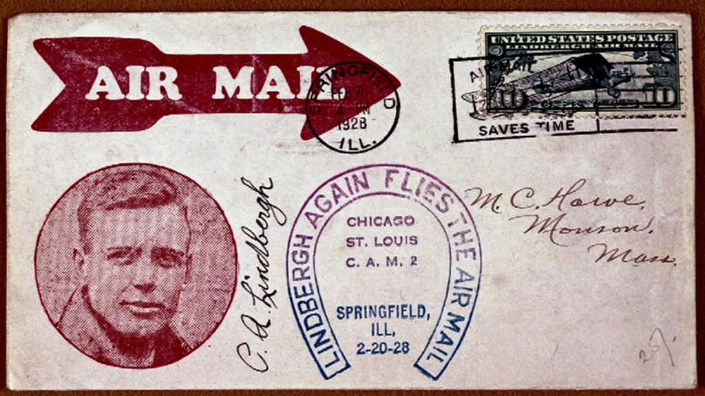 Charles Lindbergh přeletěl přes Atlantik