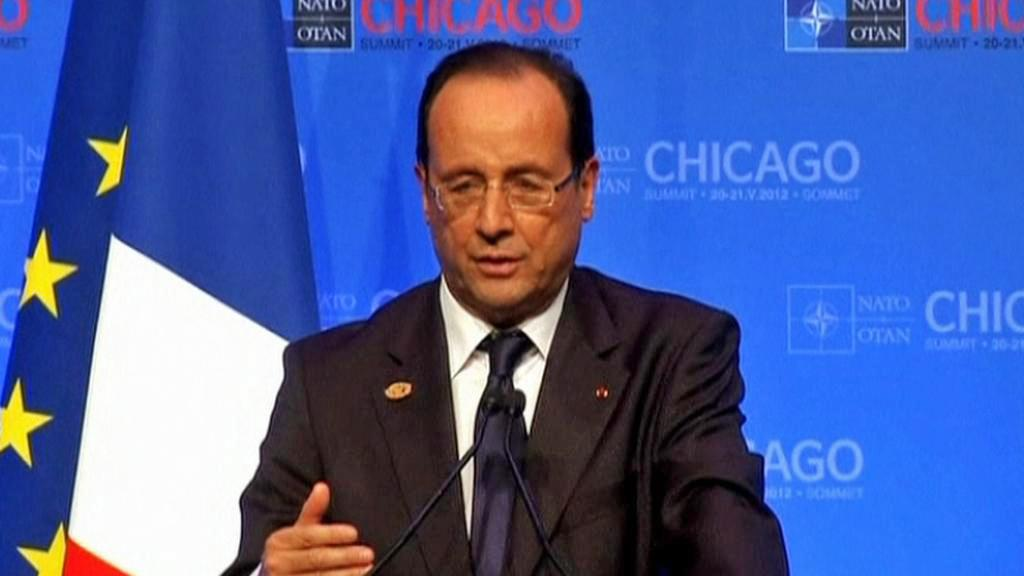 François Hollande na summitu NATO v Chicagu