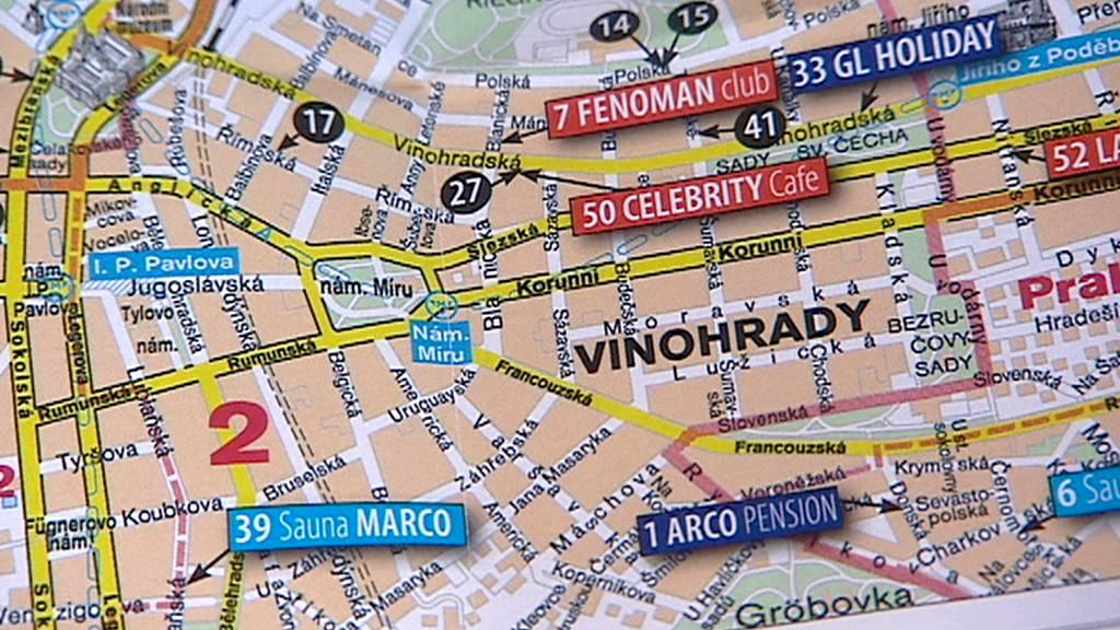 Mapa gay-podniků v Praze