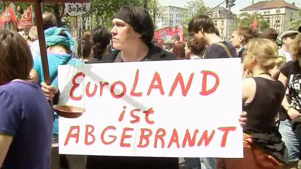 Protesty ve Frankfurtu