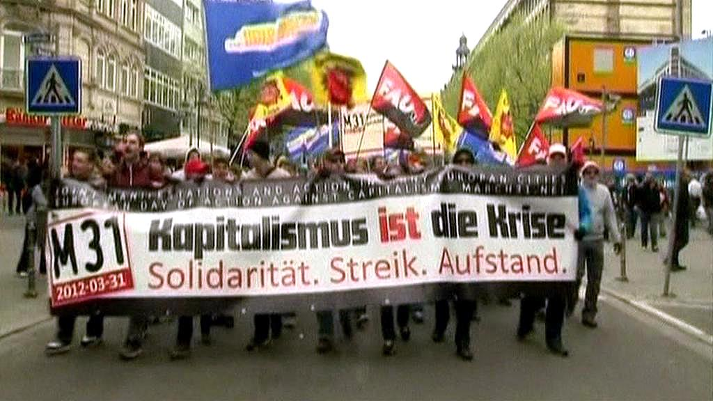 Protest ve Frankfurtu