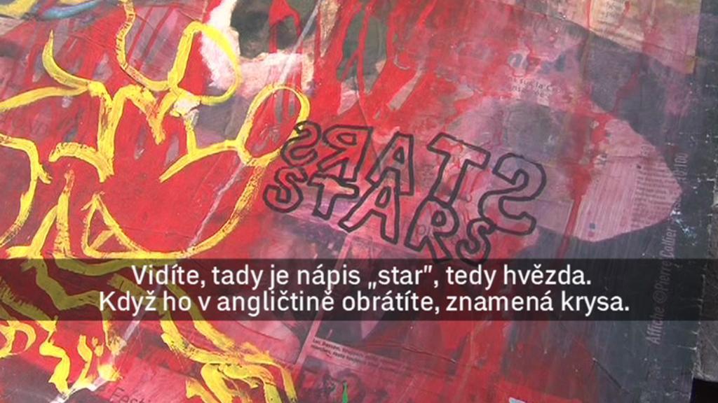 Detail plakátu umělce PAB