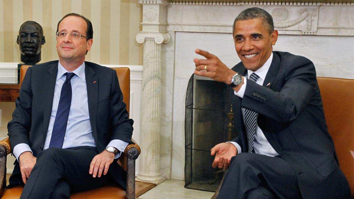 François Hollande a Barack Obama