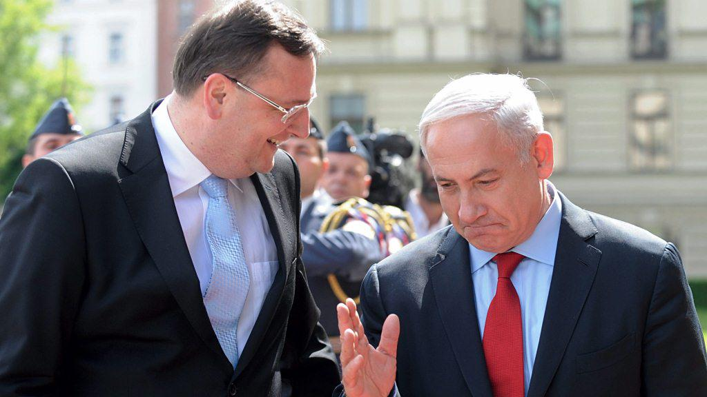 Petr Nečas a Benjamin Netanjahu