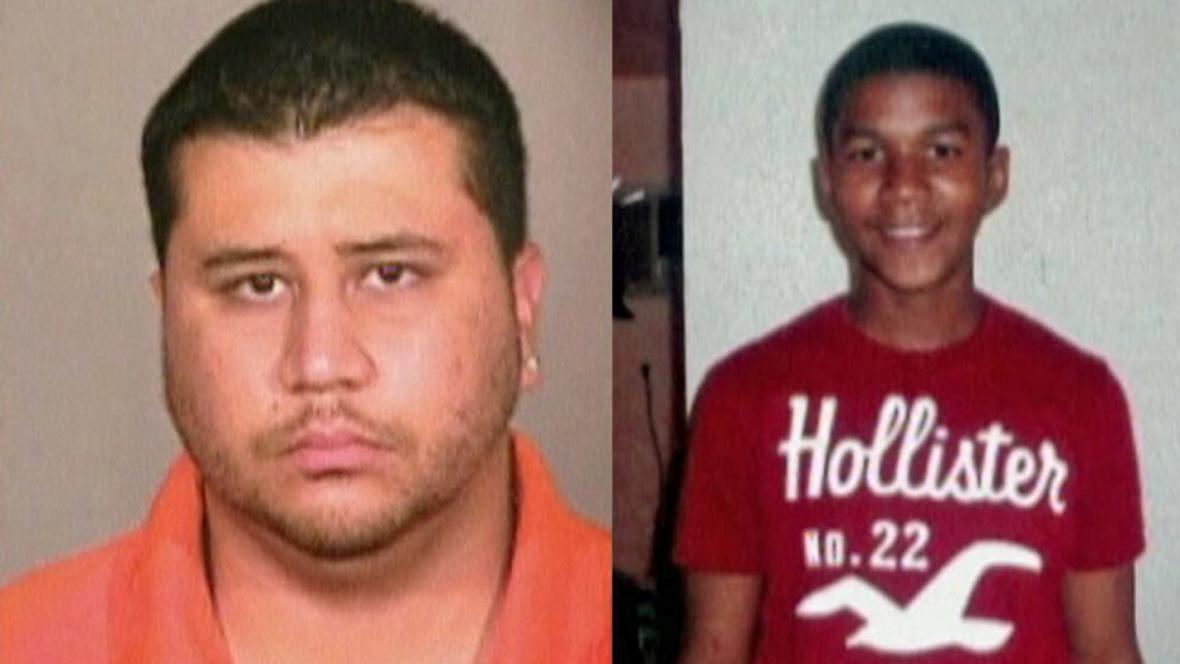 George Zimmerman a Trayvon Martin