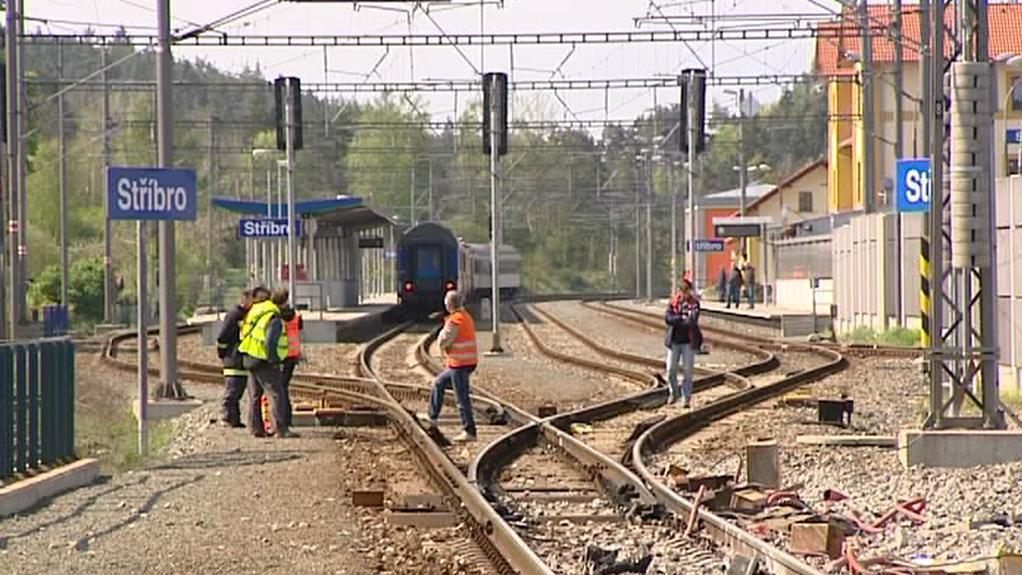 Zrekonstruovaná trať ve Stříbře