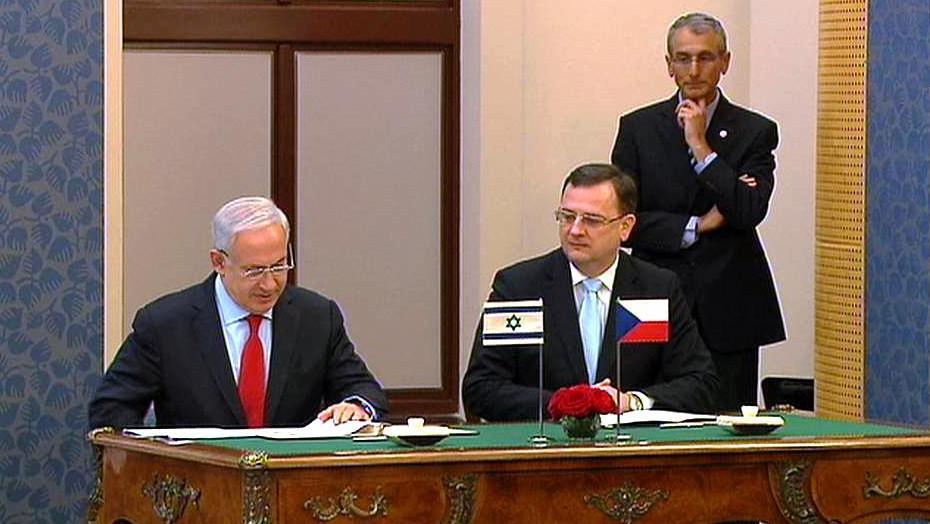 Benjamin Netanjahu a Petr Nečas