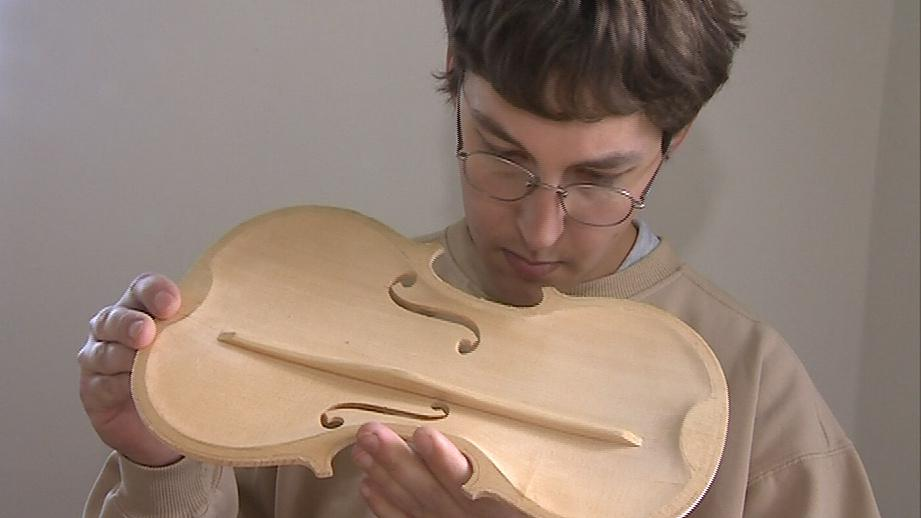 Mladý houslař Jiří Macků