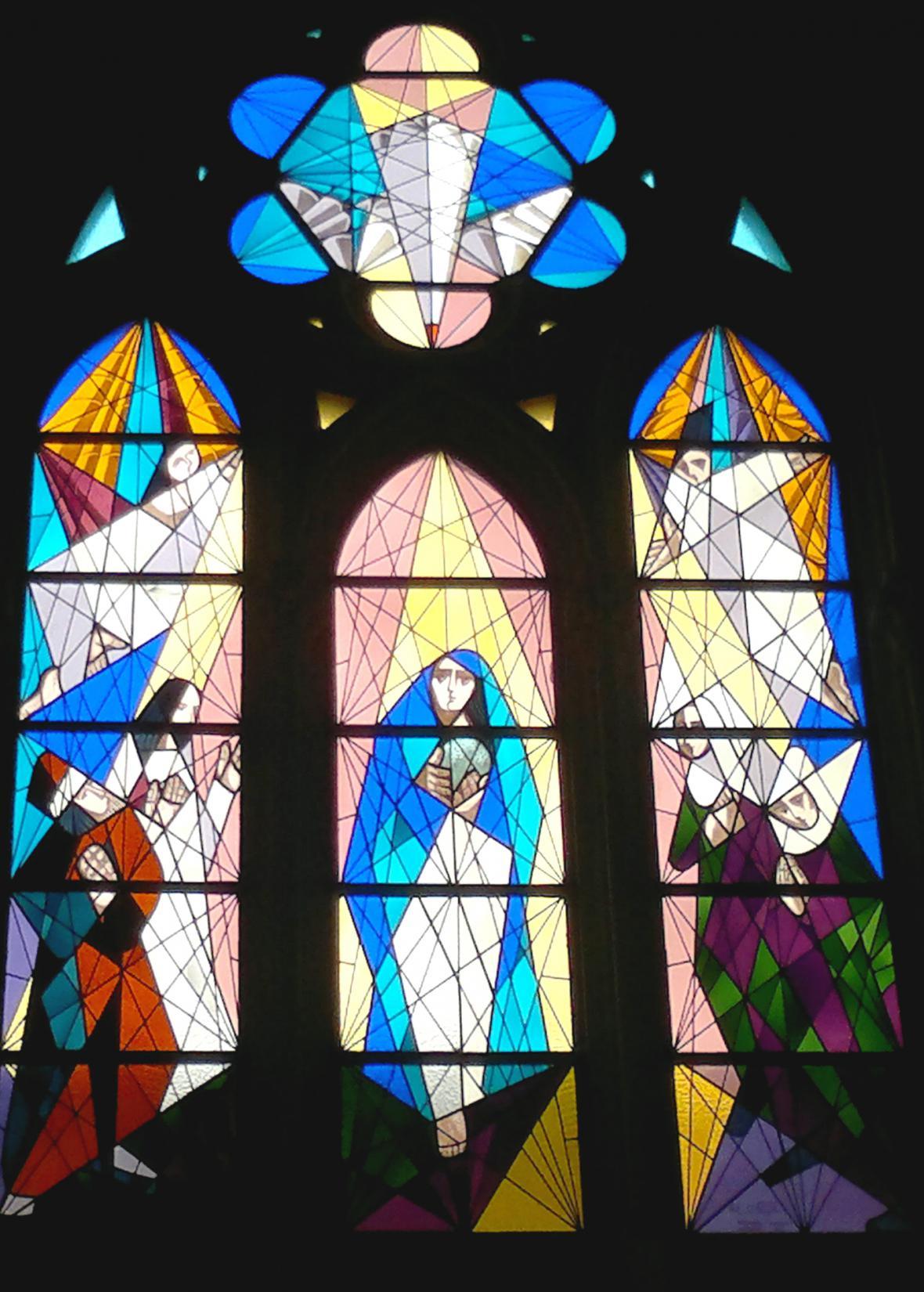 Vitráž katedrály Almudena