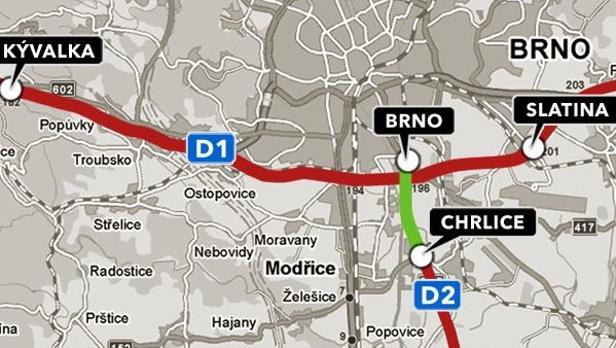 Úsek D1 mezi Kývalkou a Slatinou je zpoplatněný od ledna 2011