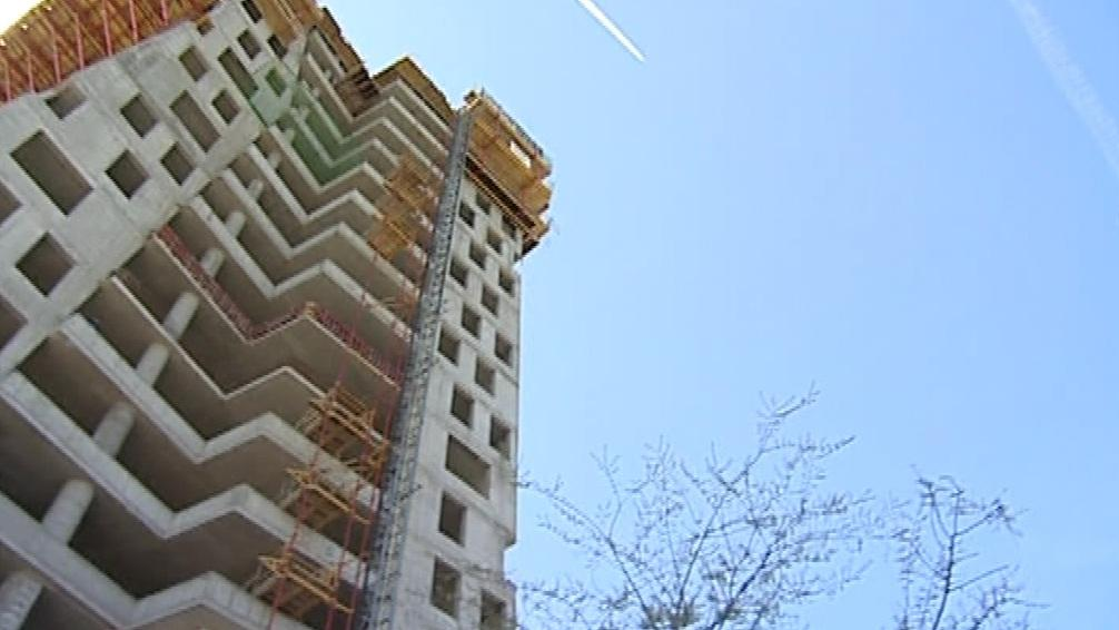 Rozestavěný brněnský mrakodrap AZ Tower