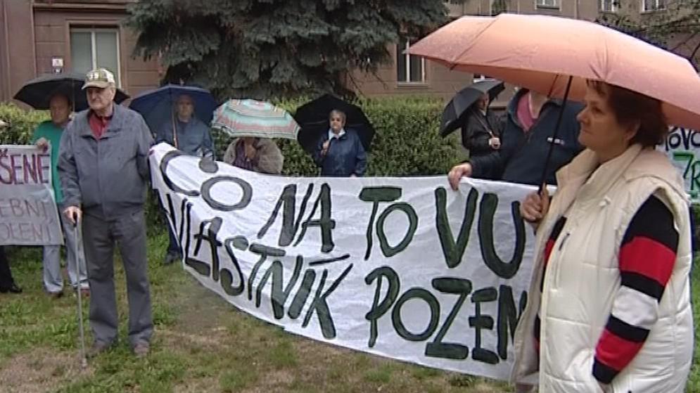Protesty občanů proti Rezidenci Erasmus