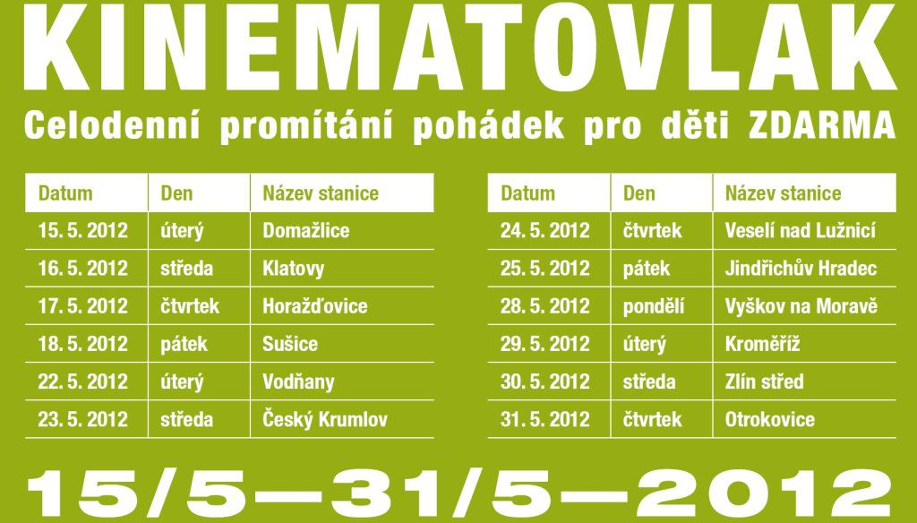 Kinematovlak - program