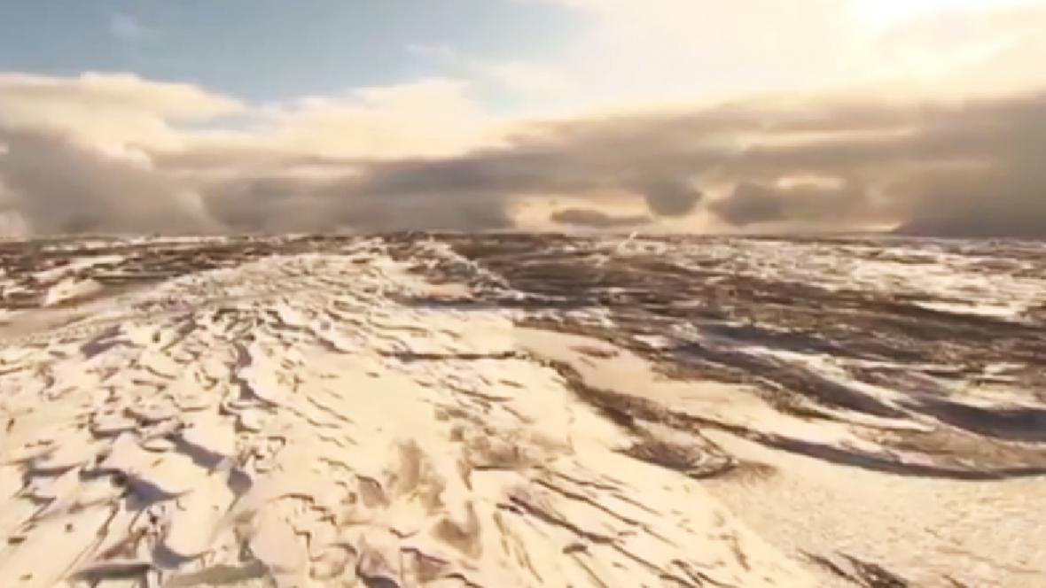 Islandská sopka Katla