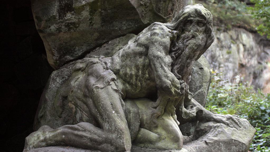 Braunova socha poustevníka v Novém lese u Kuksu
