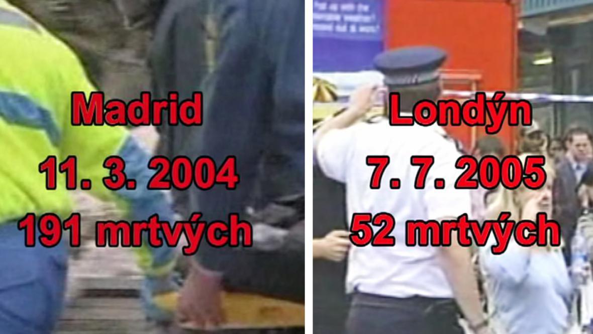 Útok na Madrid a Londýn