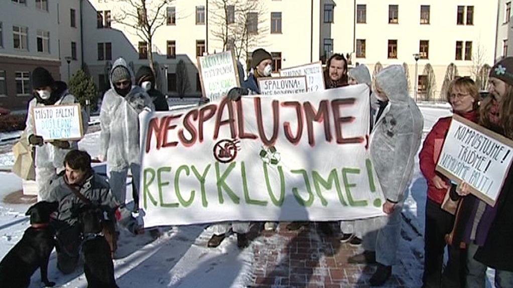 Demonstrace proti spalovně