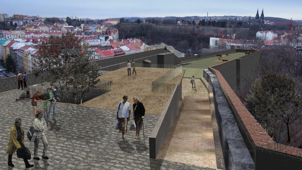 Revitalizace bastionu XXXI - vizualizace návrhu