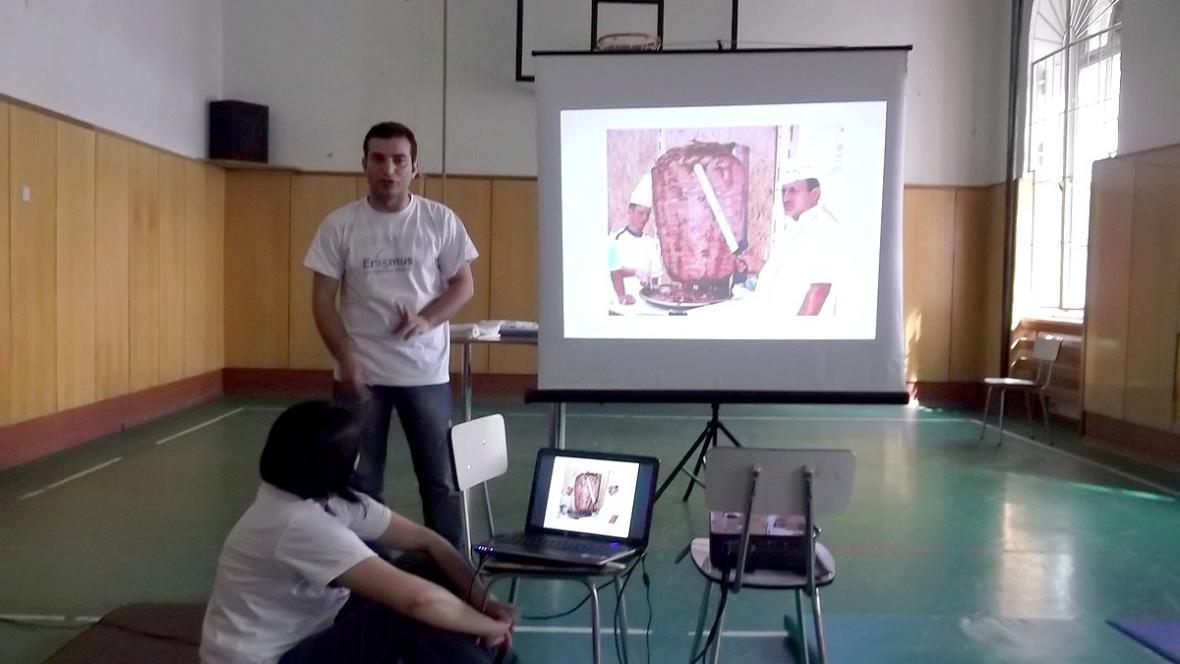 Prezentace studentů z Turecka na European Day v Brně