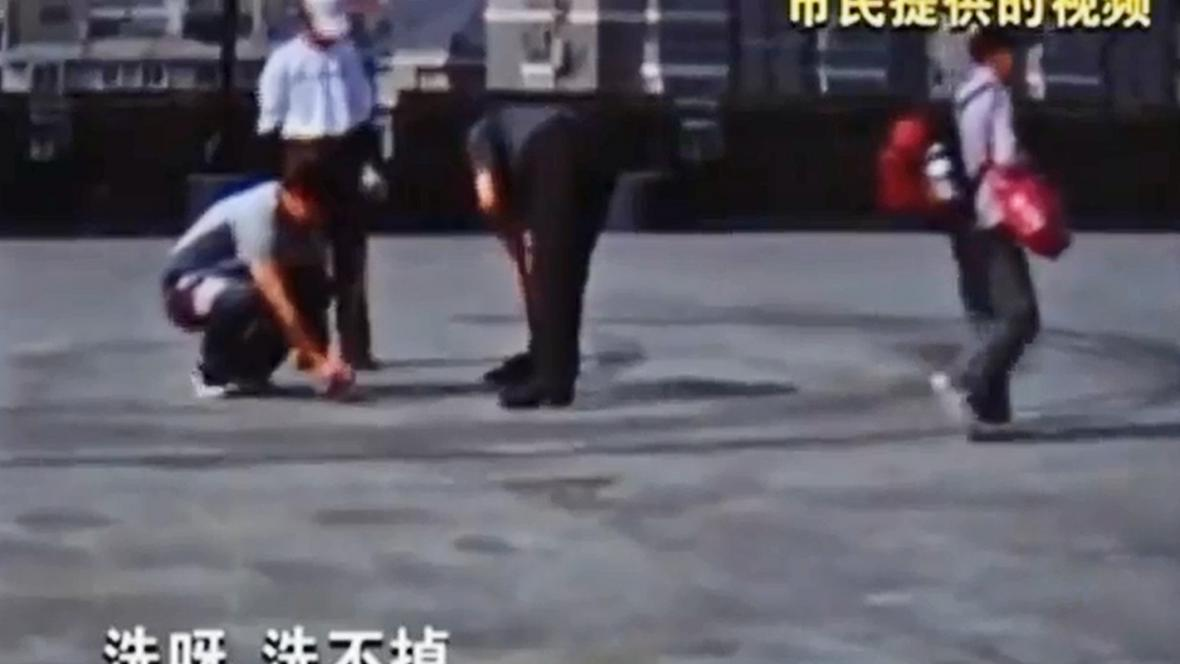 Stopy pneumatik na opevnění v Nankingu