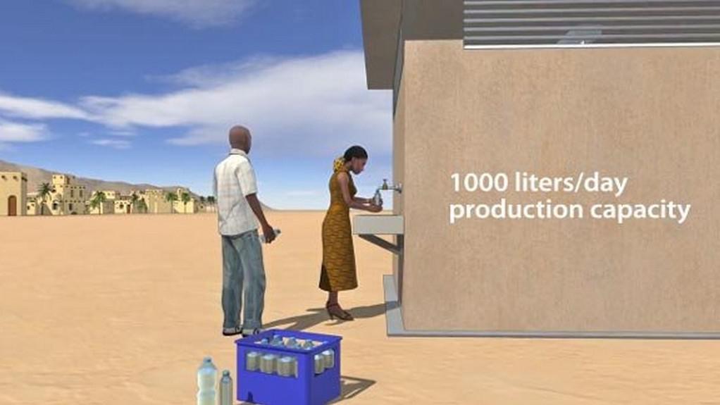 Turbína dokáže vyrobit 1000 litrů vody denně