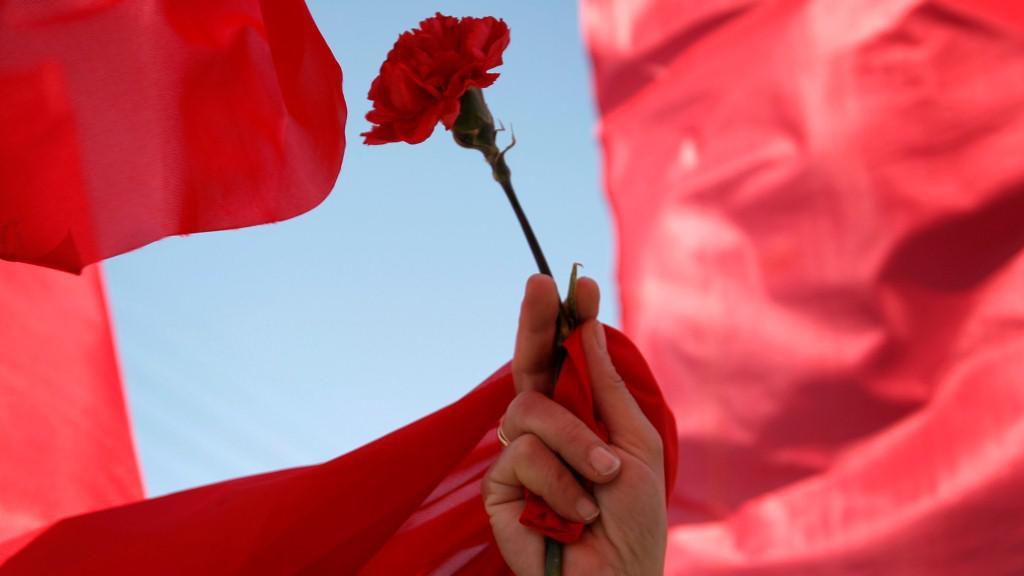 Protesty řeckých komunistů